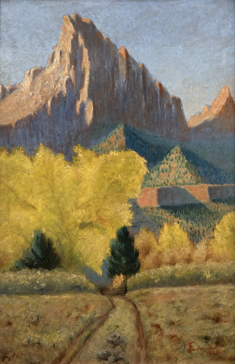 Zions (1924) by J.B. Fairbanks. 24 x 16 in. Oil on Panel