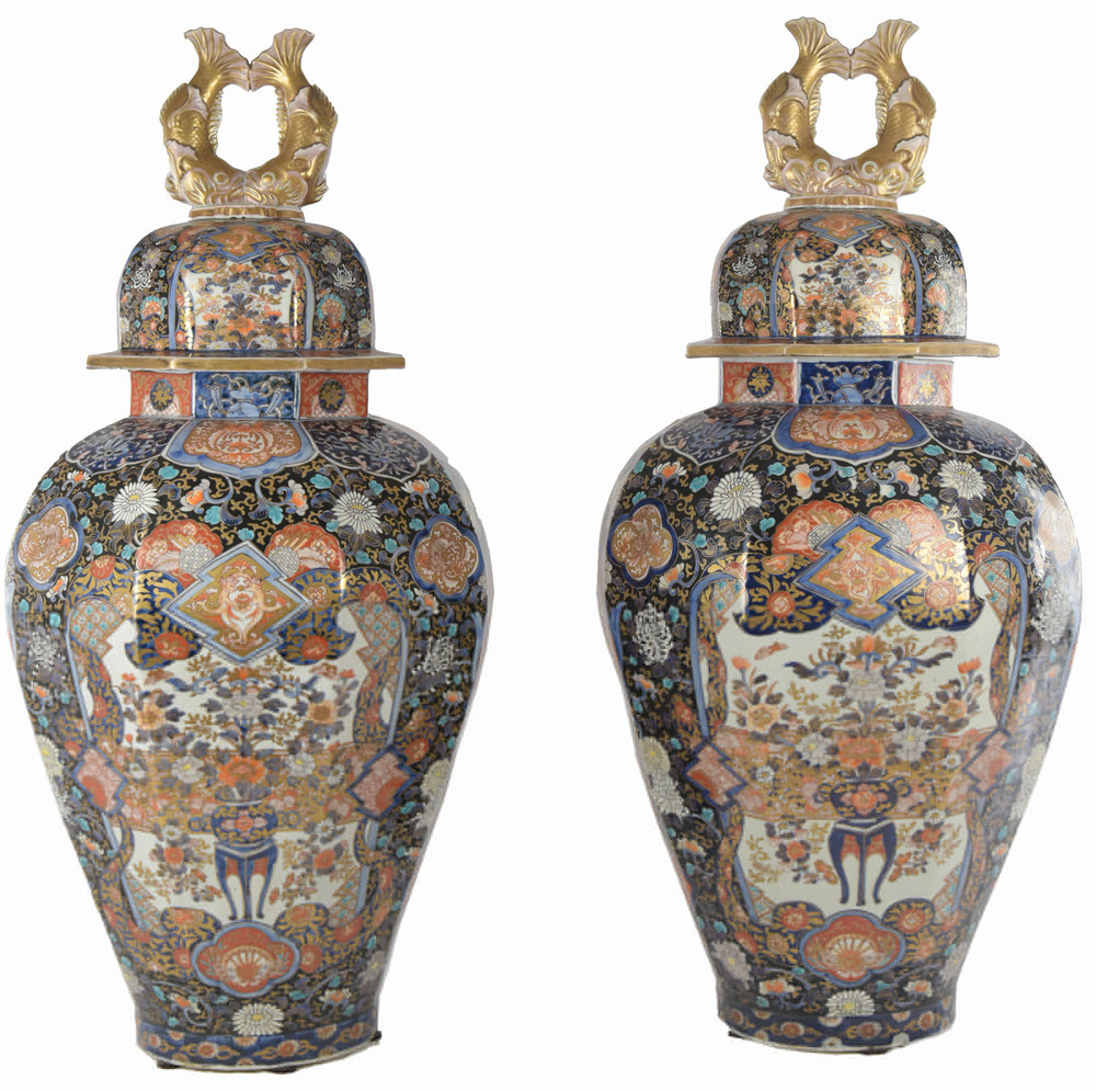 Pair of Imari Vases from the Estate of Franklin Delano Roosevelt