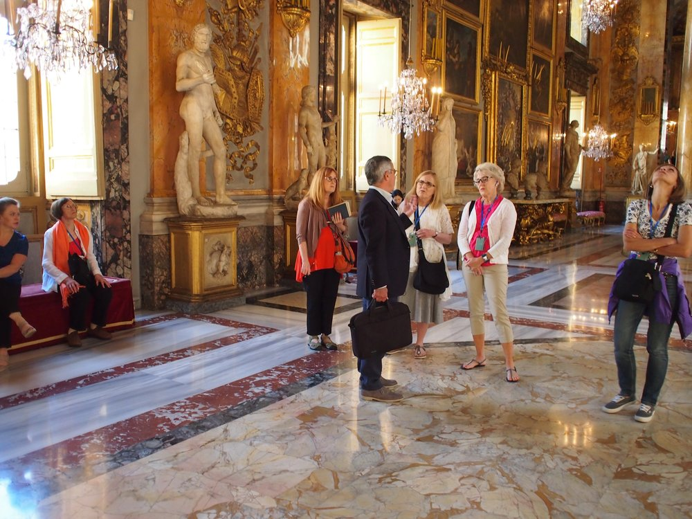 In May, we took a group of clients and friends to Rome for a one-week trip. We had private tours of monuments, palaces, and villas. Next May were are going to Spain. If you want to come, send an email to Micah: mjc@anthonysfineart.com.