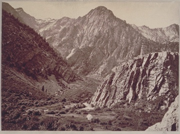 Timothy H. O'Sullivan (Irish/American, 1840-1882) Great Cottonwood Canon, Wahsatch Mountains [sic.] (1869) Albumen print (Photograph) 7 3/4 x 10 5/8 in. Still Photograph Archive, George Eastman Museum, Rochester.