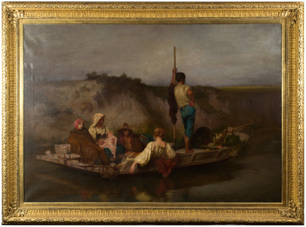 Ernest Hébert, La Mal'Aria (1854), Oil on Canvas. 53 ¼ x 77 in.