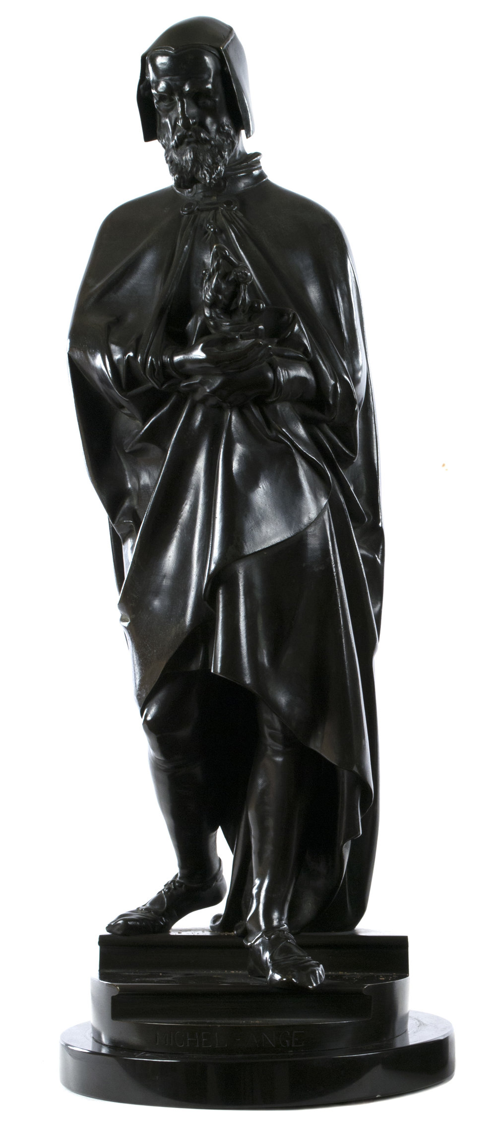 Albert-Ernest Carrier-Belleuse (French, 1824-1887) Michelangelo  /  Bronze  /  21 3/4 × 8 × 8 (in)  /  Date of Creation: 1855