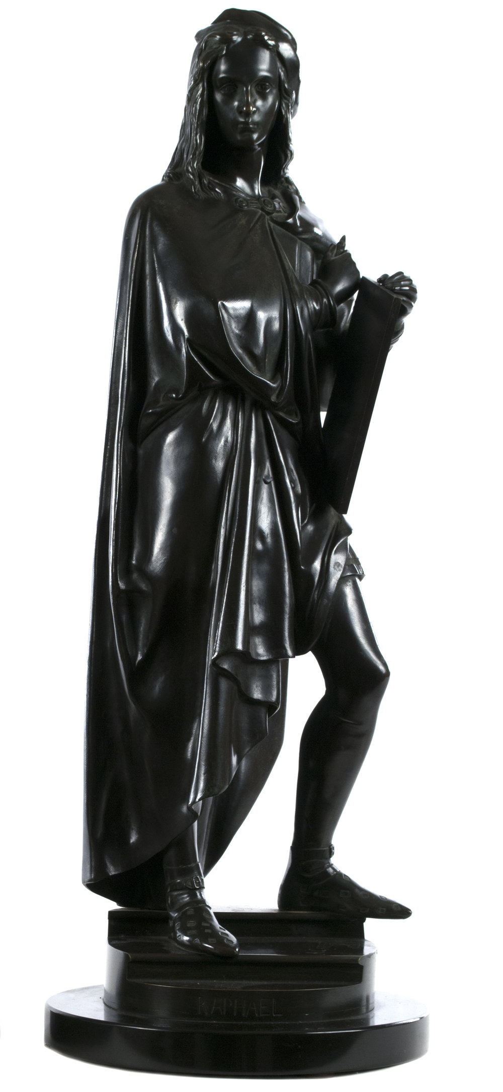 Albert-Ernest Carrier-Belleuse (French, 1824-1887) Raphael  /  bronze  /  21 1/2 × 8 × 8 (in)  /  Date of Creation: 1855