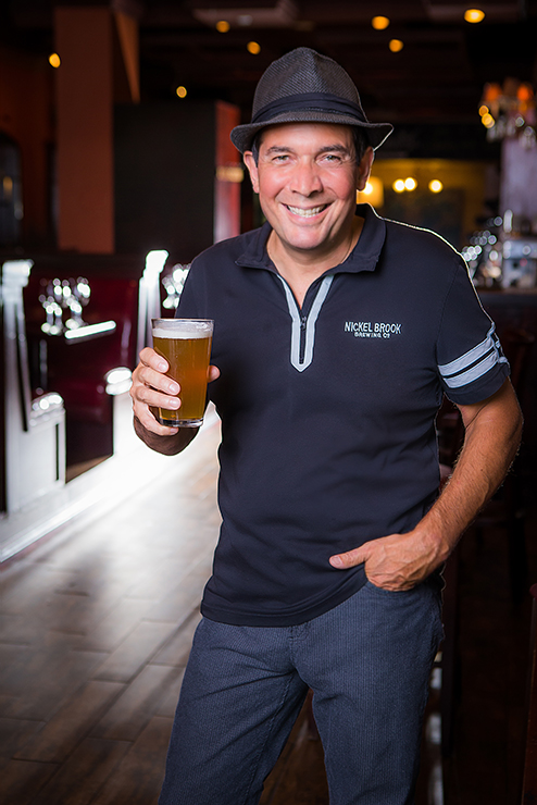 John Romano, Nickel Brook Brewing portrait photography by Jon Evans