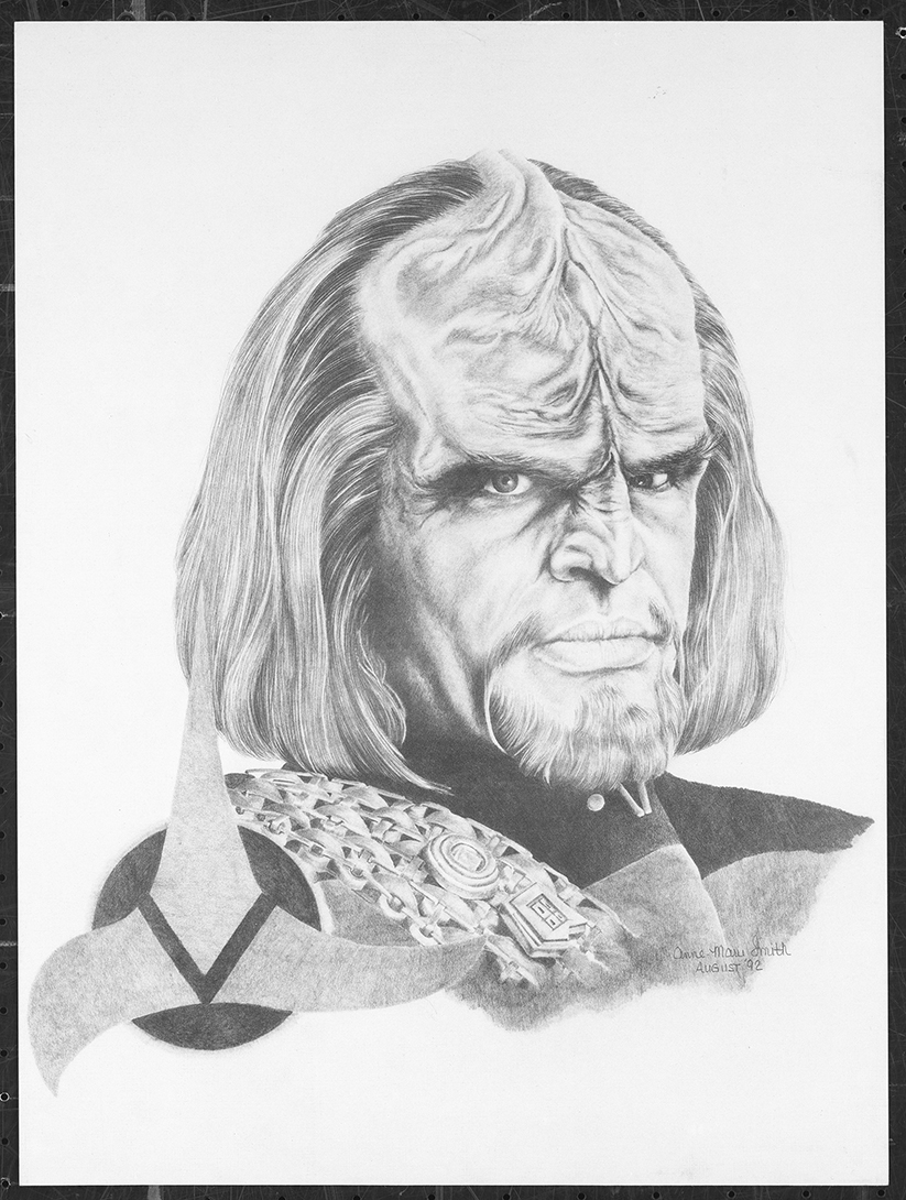"""Worf"" 1992. Graphite on Hot Press"