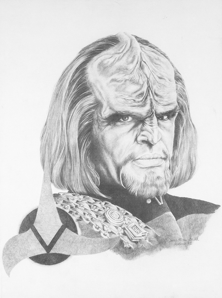 """Worf"" 1992. Graphite on Hot Press. Limited Edition Print. Four Available $175.00"