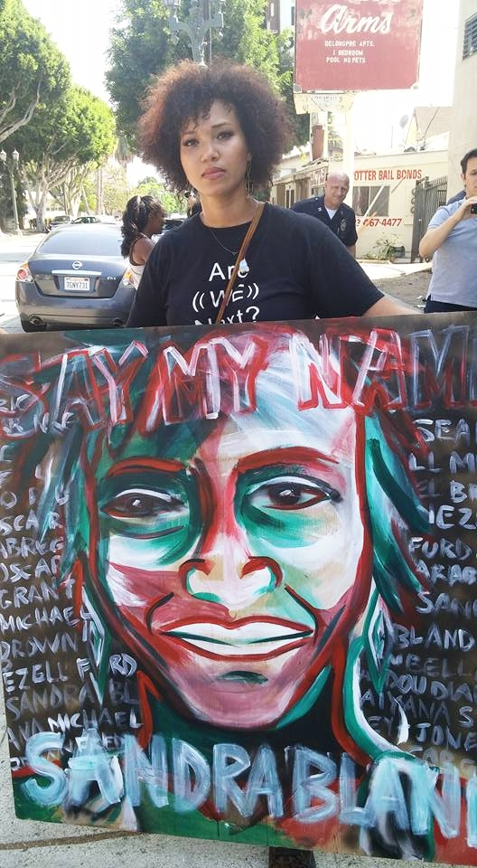 Live Painting: Black lives matter protest, Hollywood