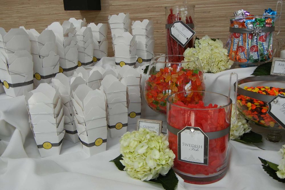 Customized Wedding Candy Bar