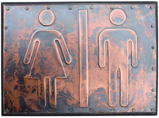 "woman & Man bathroom/ 5 x 7"" / $50"