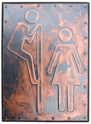 Peep Over Bathroom Sign