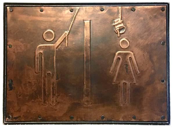 """""""Carrie"""" Bathroom Sign"""