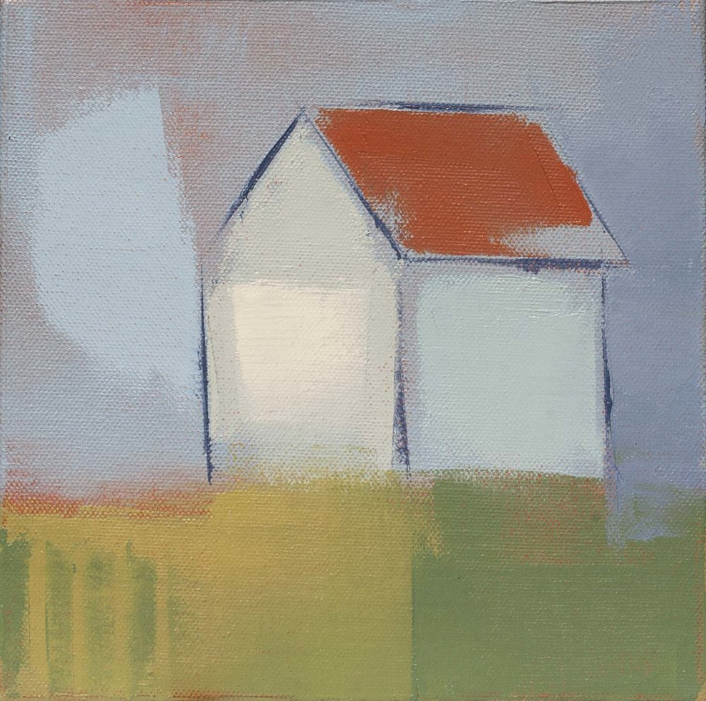 "Home#6,  8""x8"" oil on canvas"