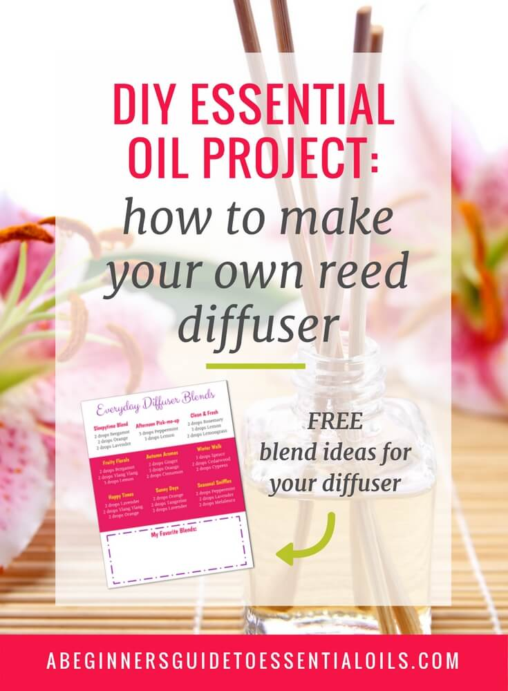 Diffusing is such a great way to get started with essential oils. It's easy to do and not as overwhelming as the other options if you're new to using essential oils. But, if you're not ready to splurge on an ultrasonic or nebulizing diffuser, you can make a simple homemade essential oil diffuser with just a few items. Keep reading to learn how to make an essential oil reed diffuser.