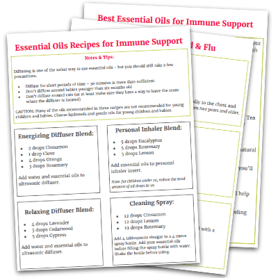 Essential oils can strengthen your immune system. Learn how to use essential oils to boost your immune system, use the included essential oil recipes, and choose the best essential oils for immune system support. Perfect for essential oil beginners!
