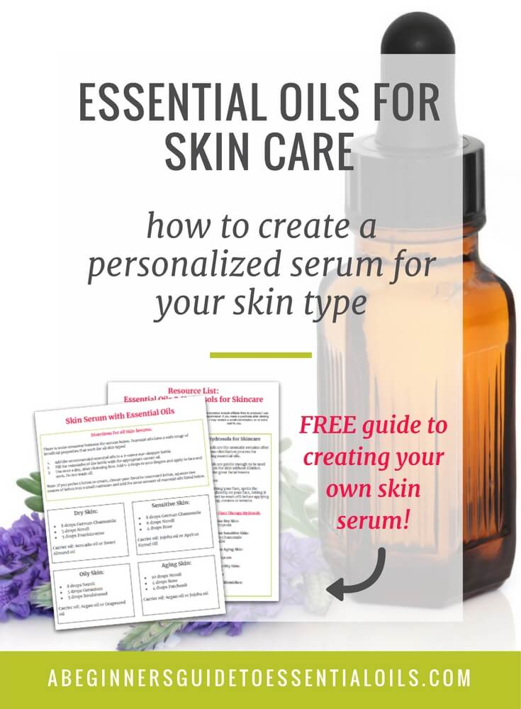 Essential oils are a great addition to your skin care regimen. Learn how to create your own personalized skin serum recipe and discover how easy it is to use essential oils for skin care - for all skin types!