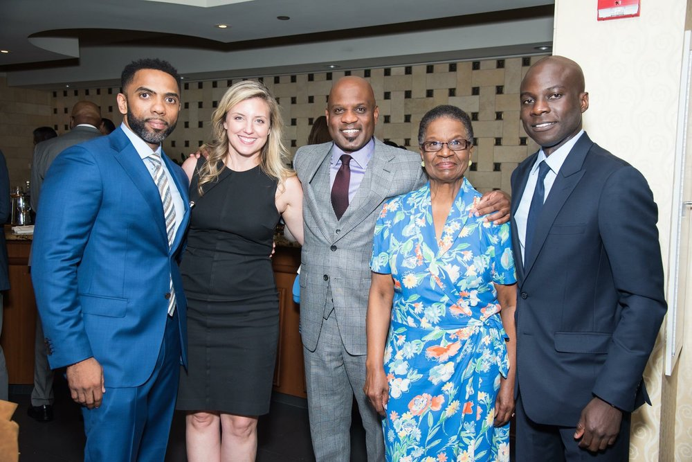 Sean Harden, Senior Technical  Advisor / Development Consultant for Greenlining Realty USA, Attorney Carrie Risatti of Glaser Weil, LLP, Lamell McMorris, Greenlining Realty USA, Bertha McMorris, Mom and Eric Kyereme, Sika Capital and Greenlining Board member.