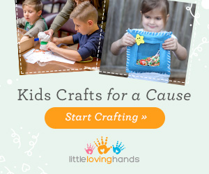 Little Loving Hands – Crafts for a Cause   Every month, a new spotlight organization and craft, with all the materials and inspiration for kids to create, learn, and donate to a worthy cause.   The purchase of every box can be submitted for  charitable tax-deduction .