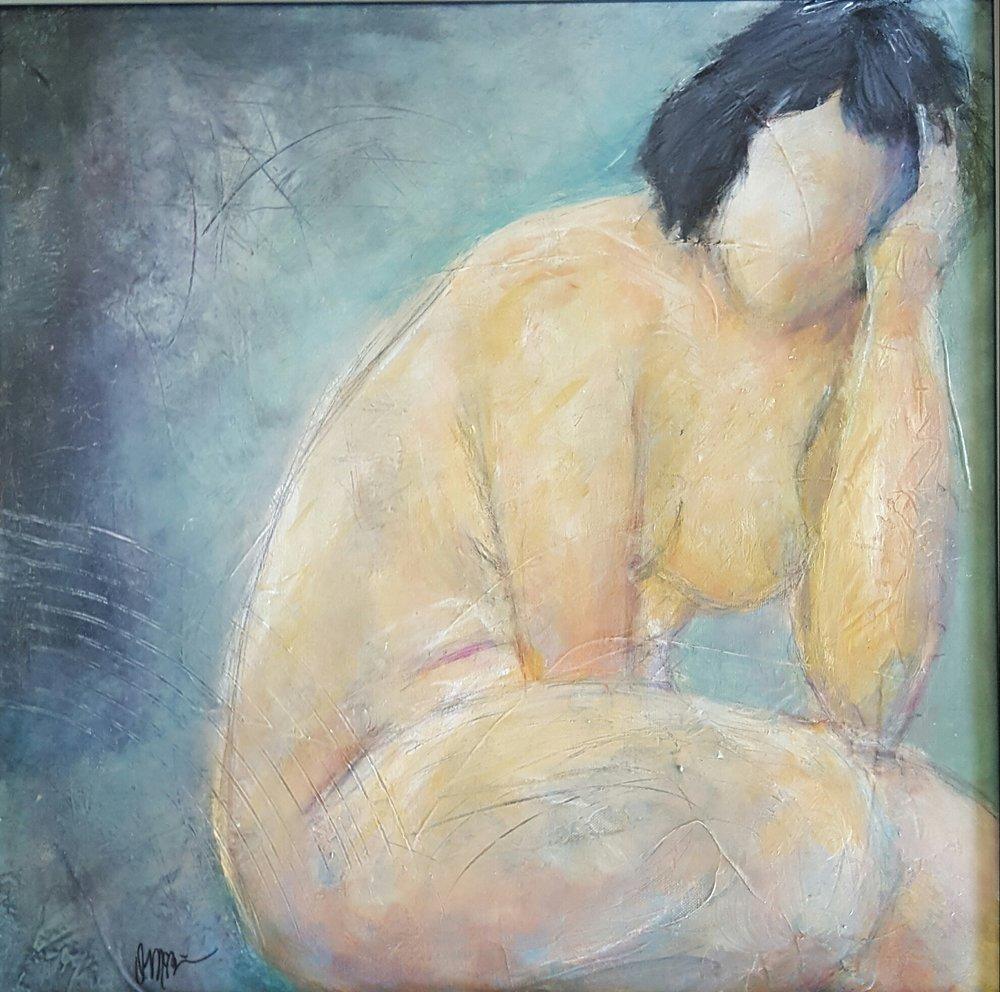 """Blue, 20""""X 20"""", Acrylic on Canvas"""