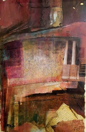 """Piano Music & Love Letters  16""""X 20""""  Mixed Media"""