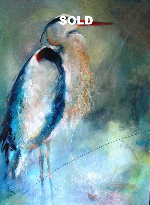 Moody Blue     30X40   Acrylic on Canvas