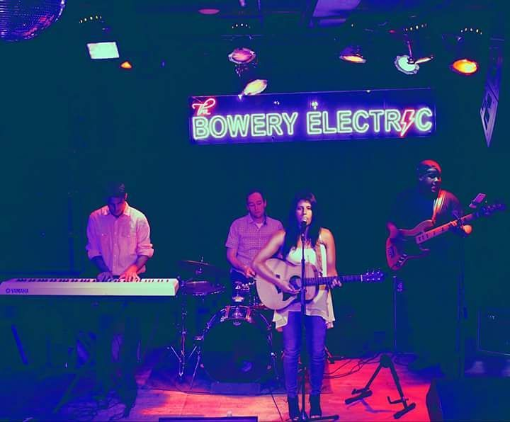 Performing at The Bowery Electric with Taylor Tucker.