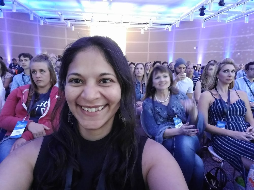 This is me - very happy to be in the audience, getting inspired!