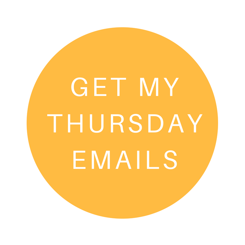 Thursday emails for Squarespace Website