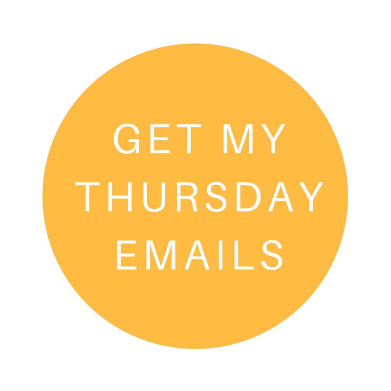 Thursday emails for Squarespace Website