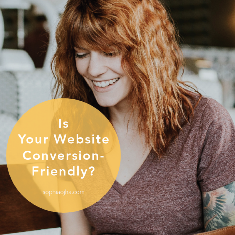 Worksheet to make website conversion friendly