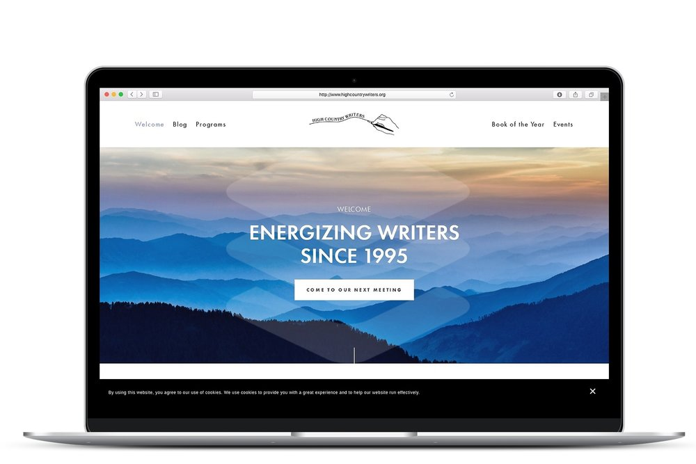 Writers' Group website on Squarespace