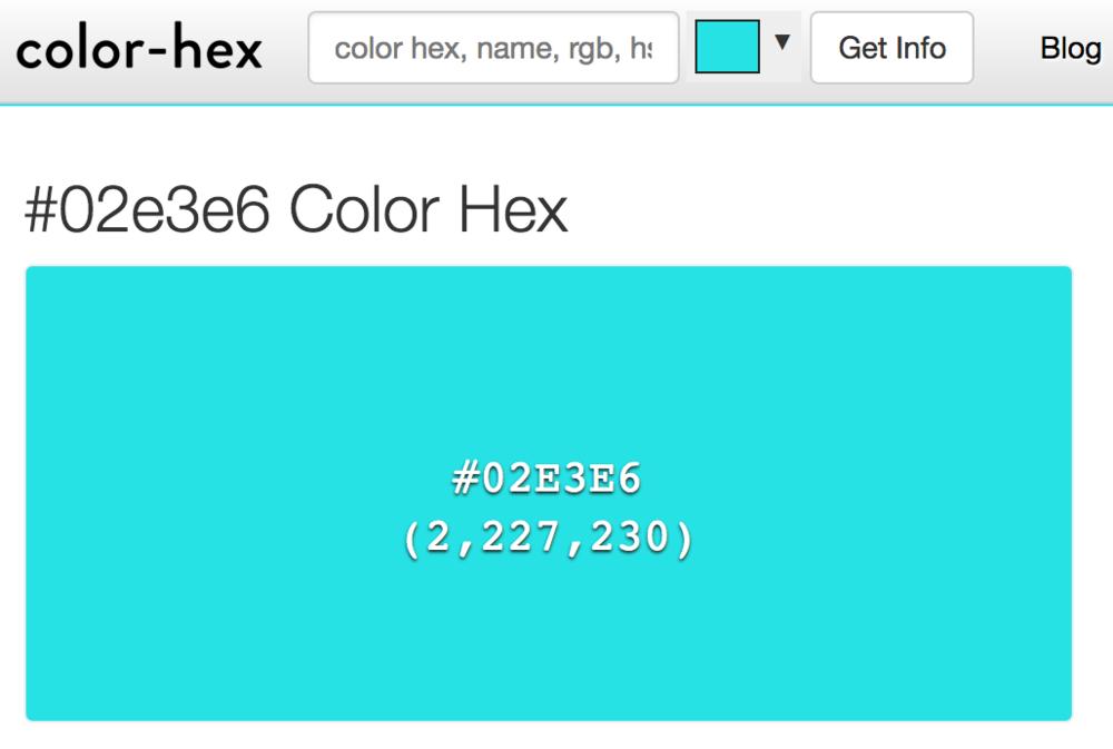 Source:  Color-Hex.com