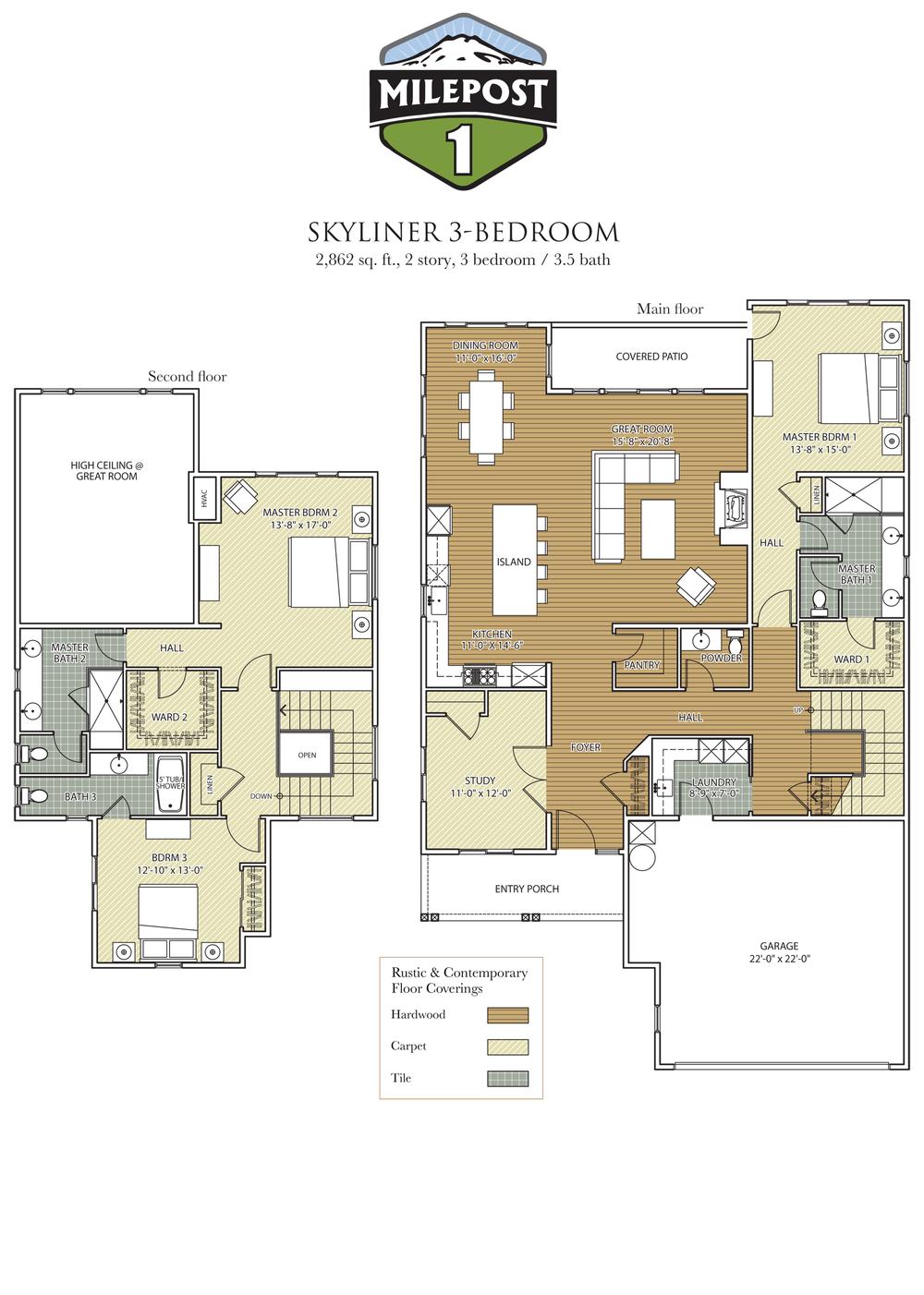 Milepost 1 Skyliner 3-Bedroom floor plan 6_29_17