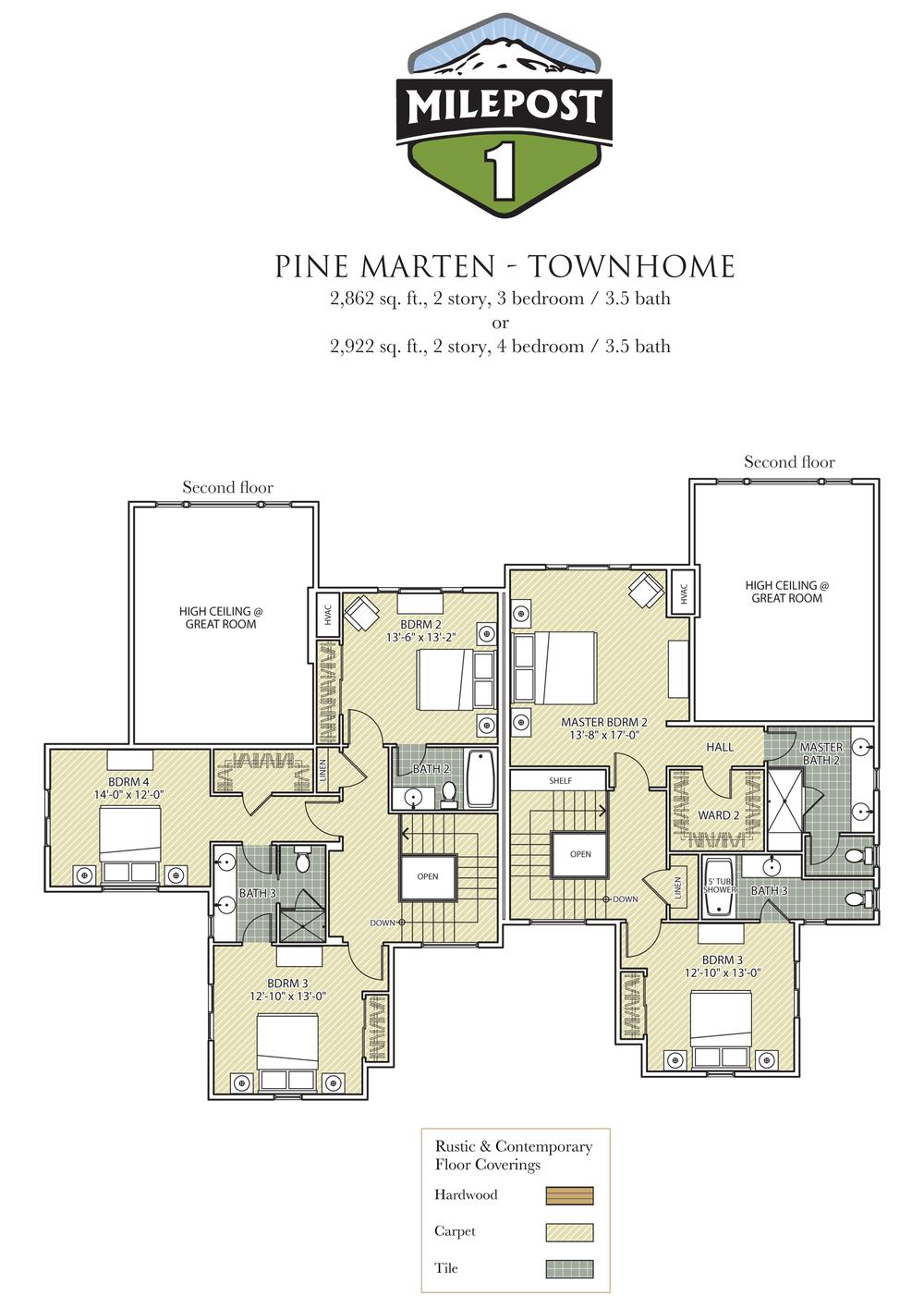 Milepost 1 Pine Marten Townhouse Upper