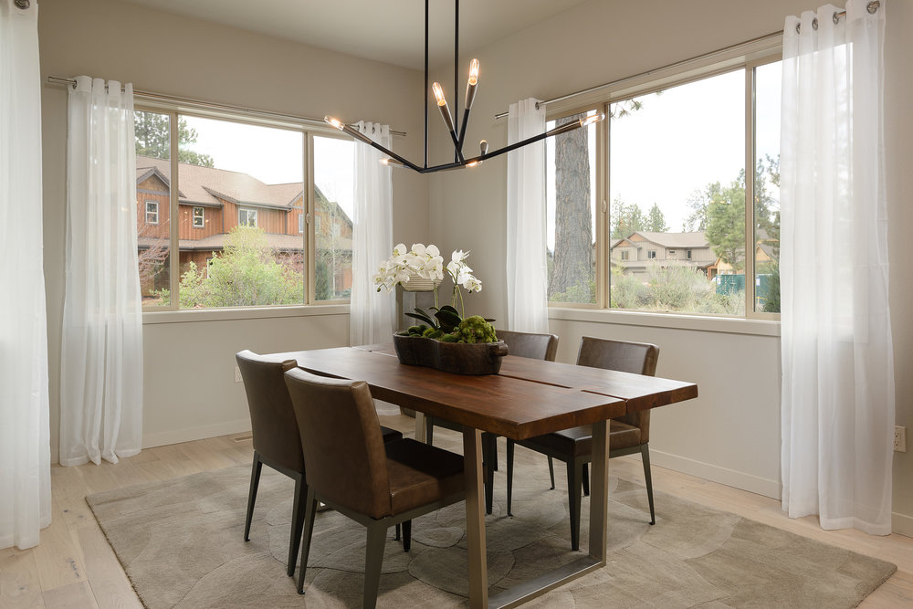 Milepost 1 Model Home dining area