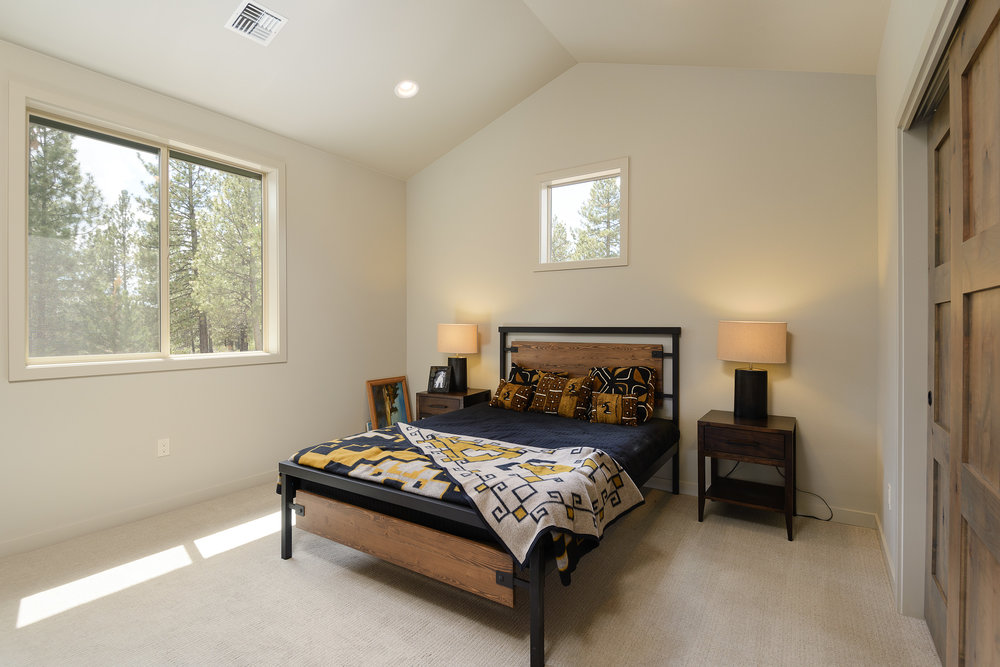 Milepost 1 Model Home guest bedroom