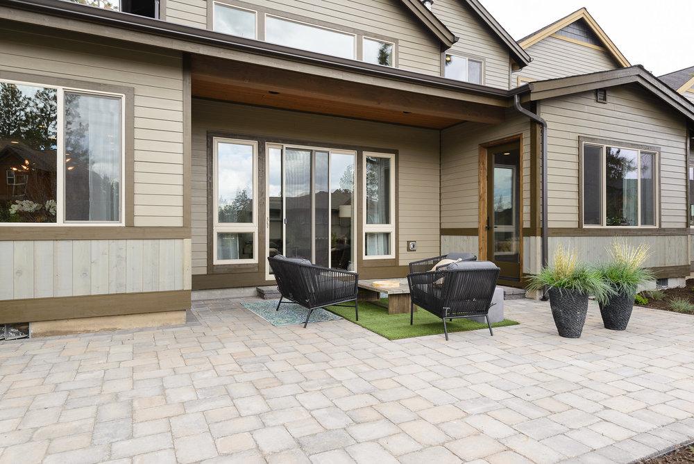 Milepost 1 Model Home outdoor living area