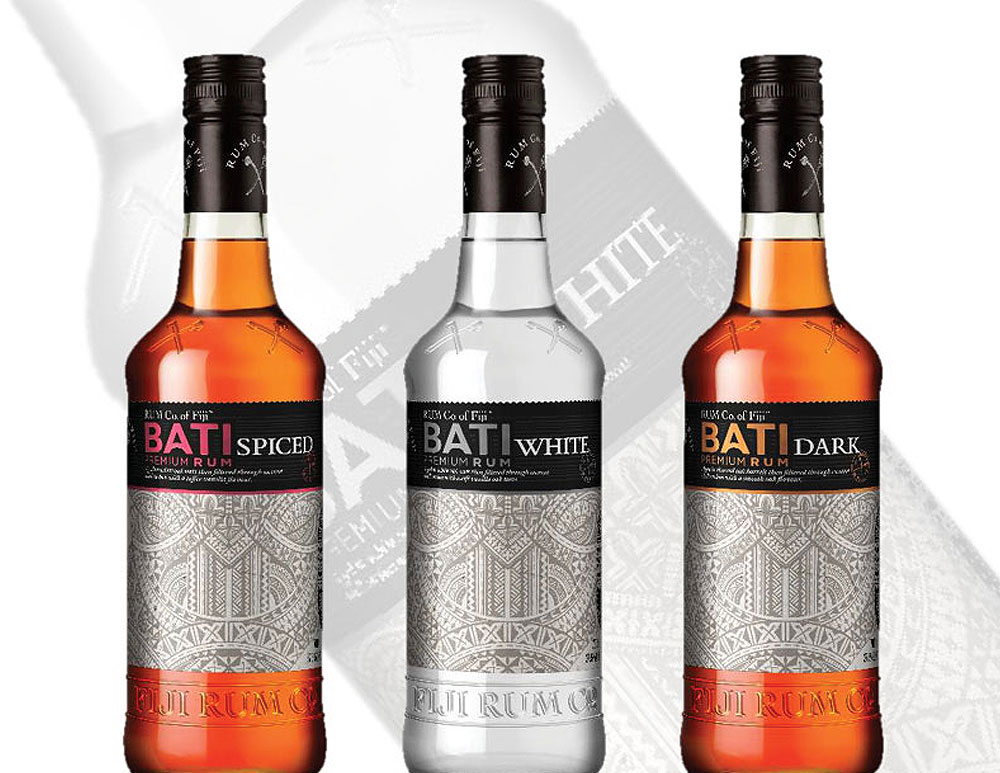 FIJI RUM CO. - BATI SPICED  Like nowhere else on Earth, Fiji's pristine environment boasts a magnificent mountainous landscape, drenched with equatorial sunshine and warm sea breezes. Our water is renowned as some of the world's purest, while our sugar cane is grown in ancient volcanic soil and warm Fijian climate, then expertly hand-cut by thousands of independent Fijian farmers.  Lightly spiced rum aged for 2 years. Light gold in colour, this rum has a warm, spicy, vanilla overtones.