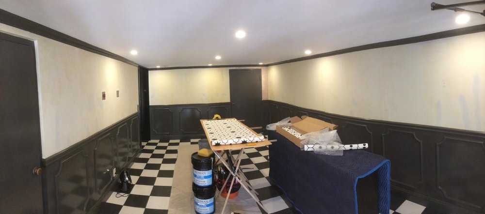 Coronado Lobby Wallpaper Install - before.jpg