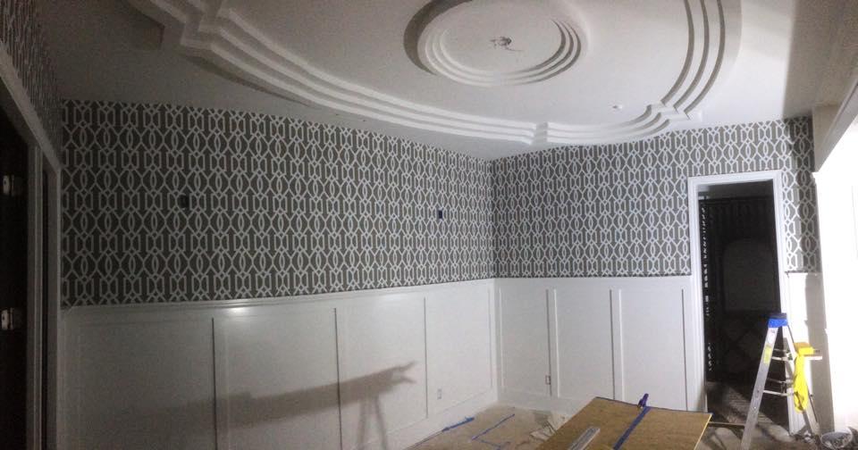 Dining Room Wallpaper install La Jolla.jpg