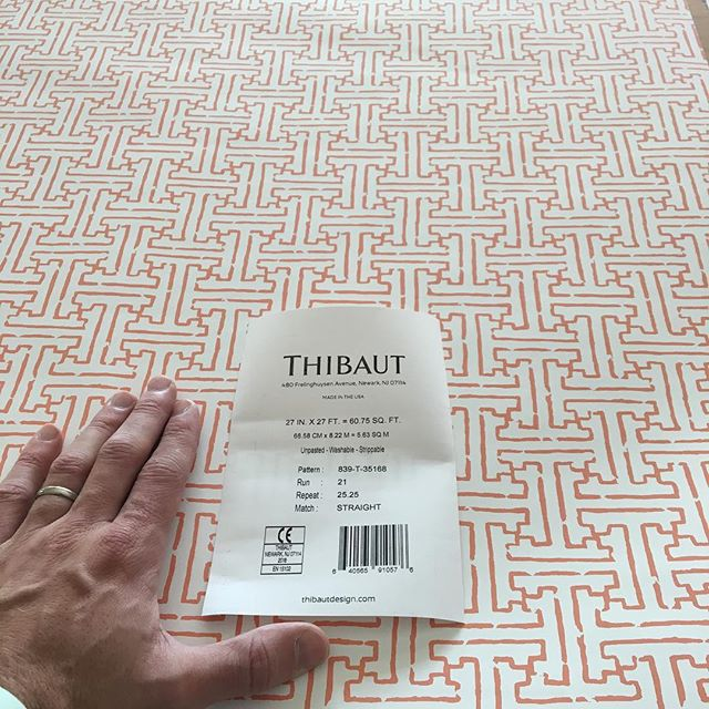 Today's paper for a powder room project. #thibautwallpaper @woodhousecreekdesign #powderroom #wallpaper #interiordesignsandiego
