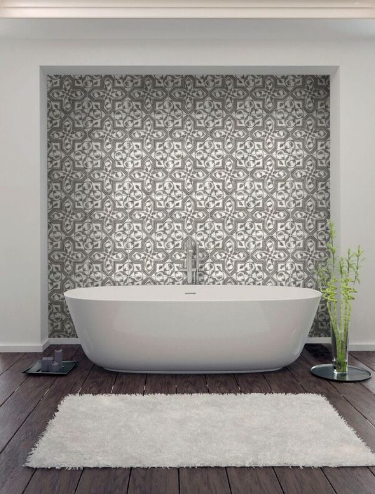 decorative bathroom wall