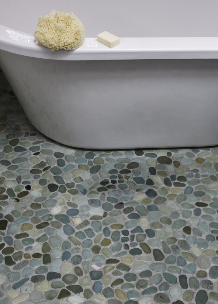 pebble floor tile