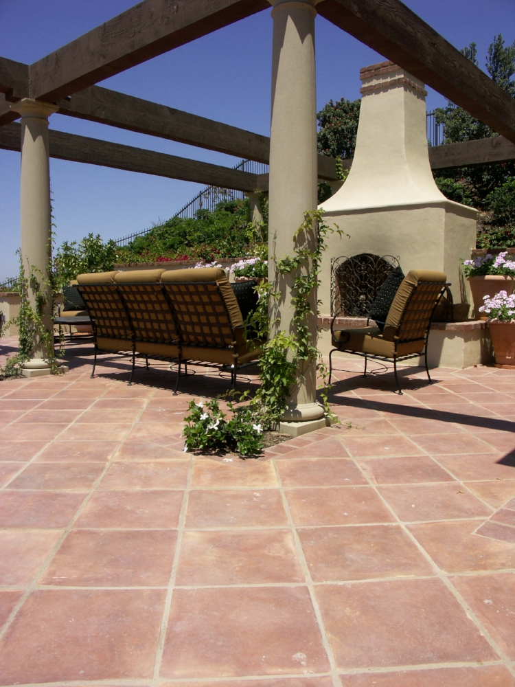 terracotta patio floor