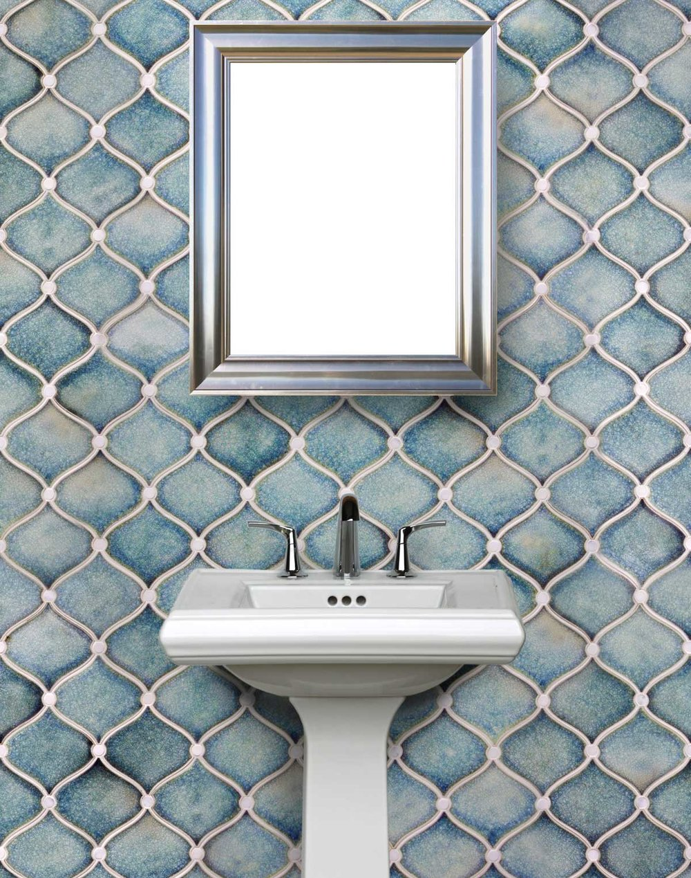 Miramar Mosaic - ocean quartz and buttons in calcatta marble.jpg