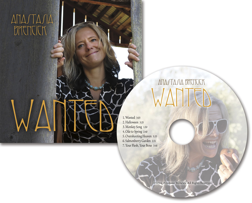 CD design for singer/songwriter , design and printing