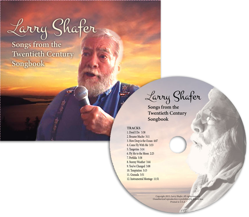 CD design for jazz singer , design and printing