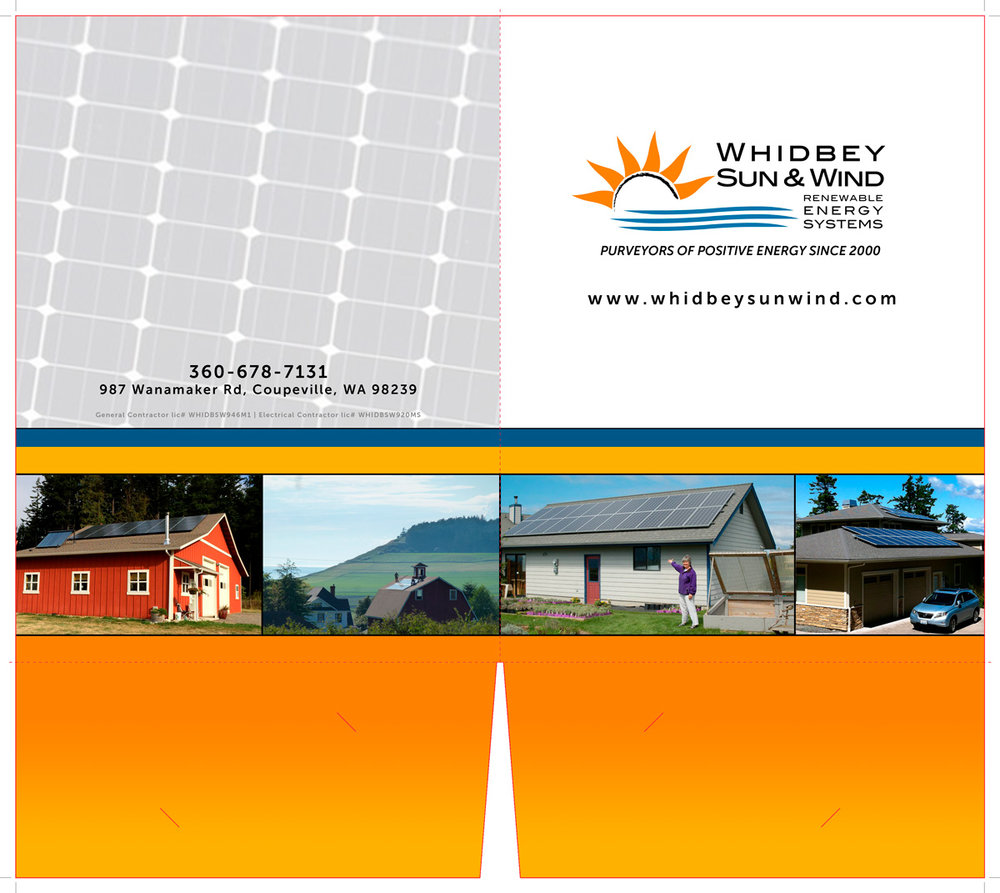 Presentation folder design for solar energy company , design and printing