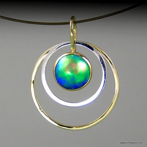 ORBIT - FREE Pacific Blue Pearl Pendant
