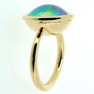 BODY AND SOUL - Pacific Blue pearl ring