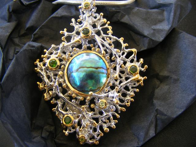 DENISE K - Mystique Blue Pearl Pendant